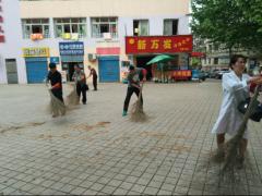 市档案局来黄思湾社区参加创卫劳动