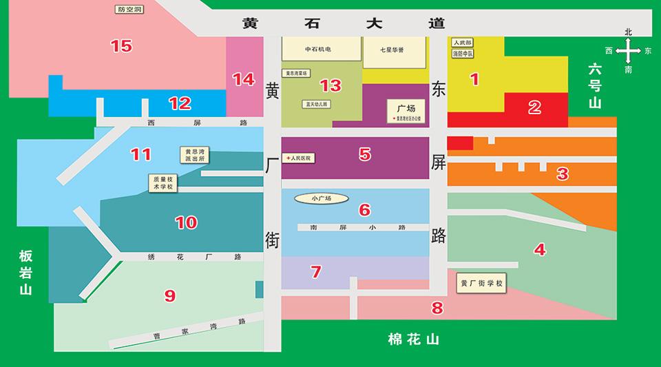 黄思湾社区网格地图